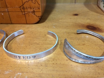 stamp and spoon bracelets