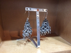 stamped earring stands