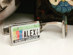 NC Creative State Personalized Cufflinks
