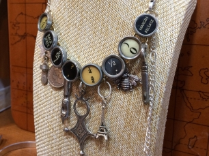 vintage typewriter key necklace