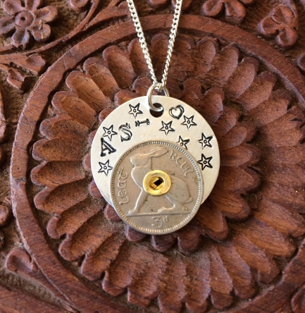Stacked coin pendant