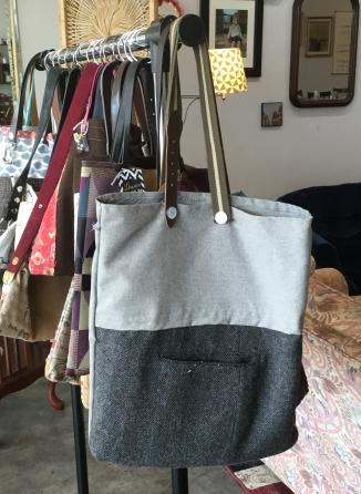 gray handbag tote