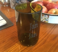 etched wine bottle glass